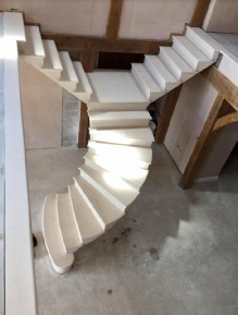 post tensioned stone staircase leicester: