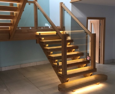 Glass Staircase,Oak and glass staircase,Glass Stairs,Oak and glass stairs: