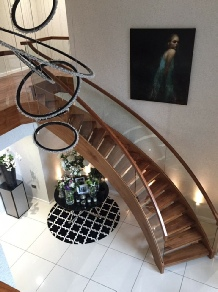 Helical stairs, helical staircases, oak helical staircases, walnut helical staircases, stone helical staircases:
