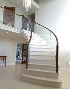 stone stairs, post tensioned stone stairs, floating stairs, floating stone stairs: